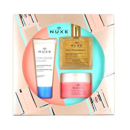 Nuxe Promo Huile Prodigieuse 50ml & Insta Masque Exfoliant 50ml & Creme Fraiche de Beaute 48h Moisturising Cream 30ml