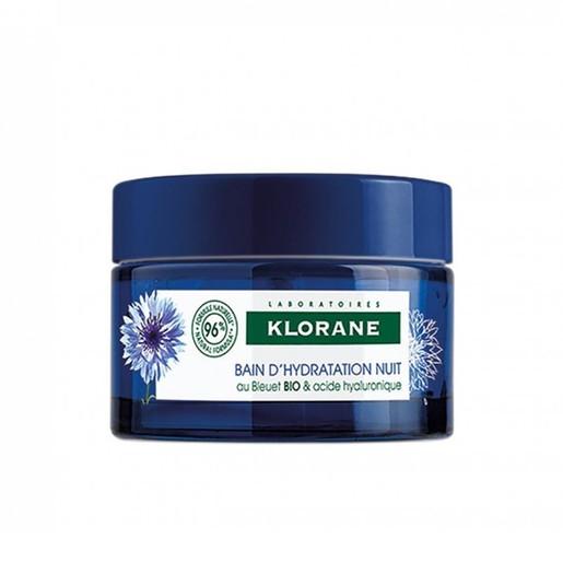 Klorane Bleuet Water Sleeping Mask With Organic Cornflower & Hyaluronic Acid Απαλή Ενυδατική Κρέμα Νύχτας 50ml