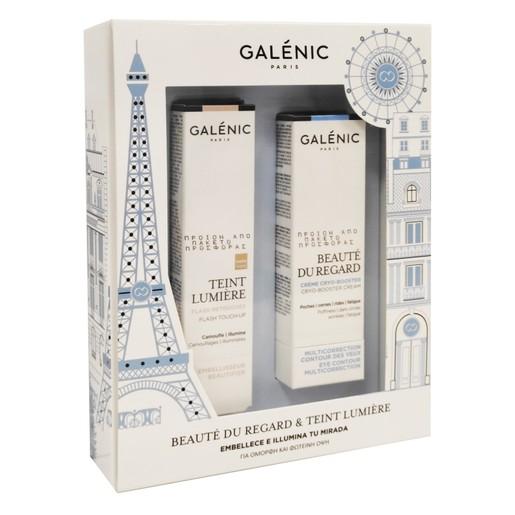Galenic Promo Beaute Du Regard Crema Crio-Estimulante 15ml & Δώρο Galenic Teint Lumier Pincel Retoques Flash 2ml