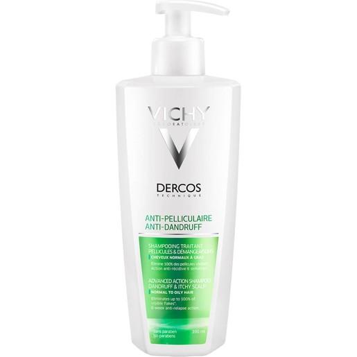 Dercos Anti-Dandruff Shampoo Normal - Oily Hair 390ml - Vichy