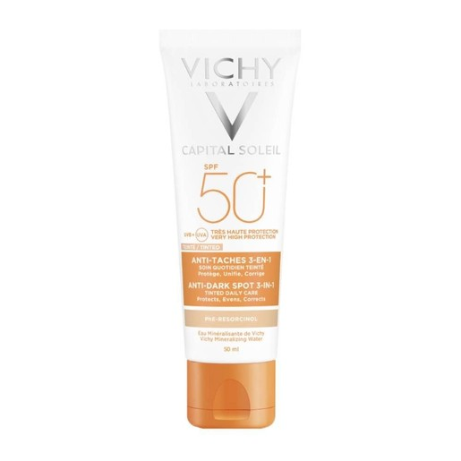Vichy Capitall Soleil Spf50+ Cream 3-in-1 Tinted Αnti Dark Spots 50ml