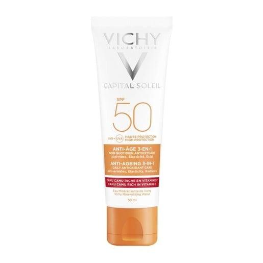 Vichy Ideal Soleil Spf50 Anti-Age Antioxidant 3 in 1, 50ml