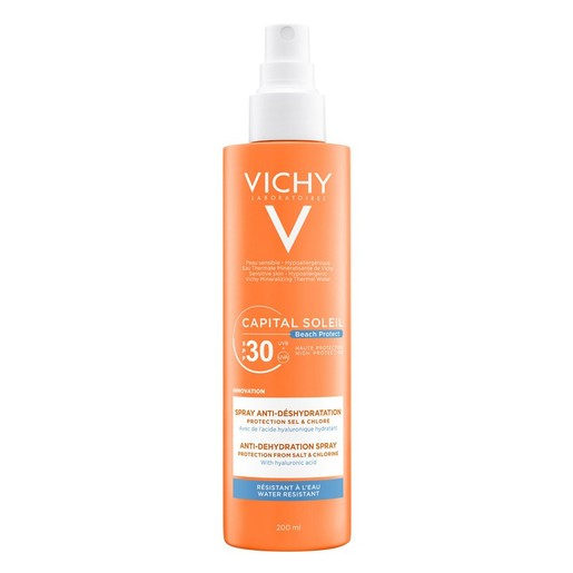 Vichy Capital Soleil Beach Protect Anti-Dehydration Spray Spf30 Αντηλιακό Γαλάκτωμα Προσώπου Σώματος Κατά της Αφυδάτωσης 200ml