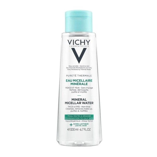 Vichy Purete Thermale Mineral Micellar Water για Μικτή - Λιπαρή Επιδερμίδα 200ml