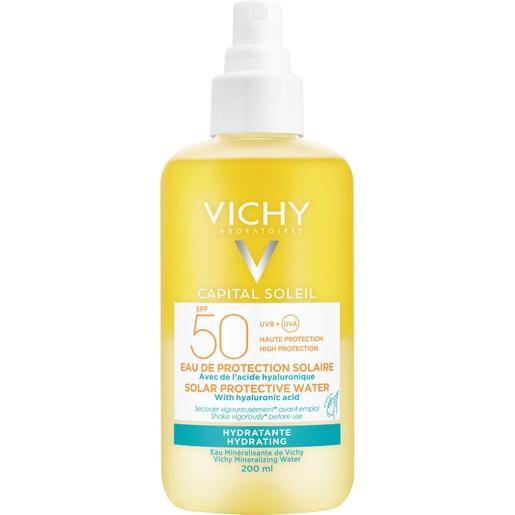 Vichy Capital Soleil Solar Protective Water With Hyaluronic Acid Spf50 Νερό Υψηλής Προστασίας από τον Ήλιο με Υαλουρονικό 200ml