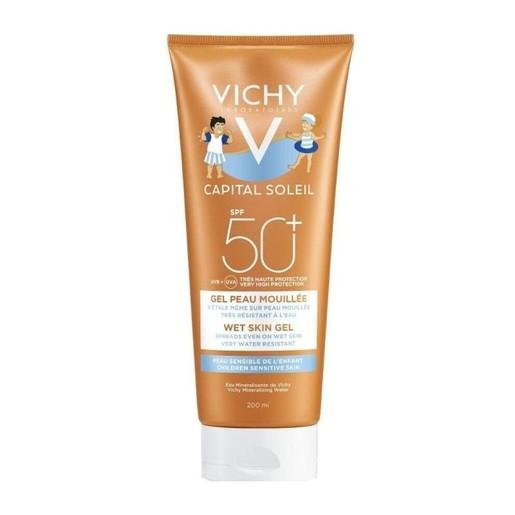 Vichy Capital Soleil Wet Skin Gel Kids Spf50+ Παιδικό Αντηλιακό Πολύ Υψηλής Προστασίας για Εφαρμογή & σε Υγρό Δέρμα 200ml