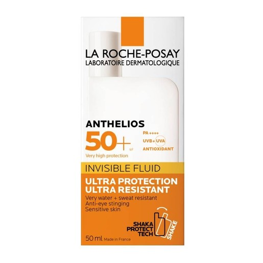 La Roche-Posay Anthelios Fluide Invisible Shaka SPF50+ Λεπτόρρευστη Αντηλιακή Κρέμα για το Πρόσωπο Πολύ Υψηλής Προστασίας 50ml