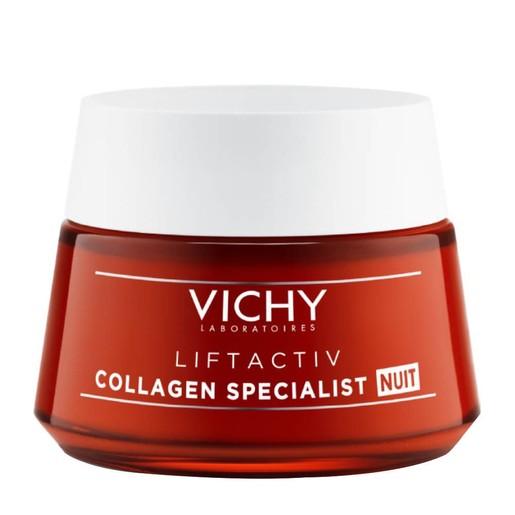 Vichy Liftactiv Collagen Specialist Night Κρέμα Νύχτας για Επανόρθωση Βαθιών Ρυτίδων με Βιοπεπτίδια & Ρεσβερατρόλη 50ml