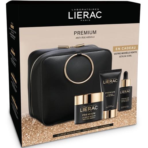 Lierac Gift Box Premium La Creme Soyeuse Legere 50ml, Premium La Masque 75ml & Δώρο Premium Serum 30ml & Κομψό Νεσεσέρ