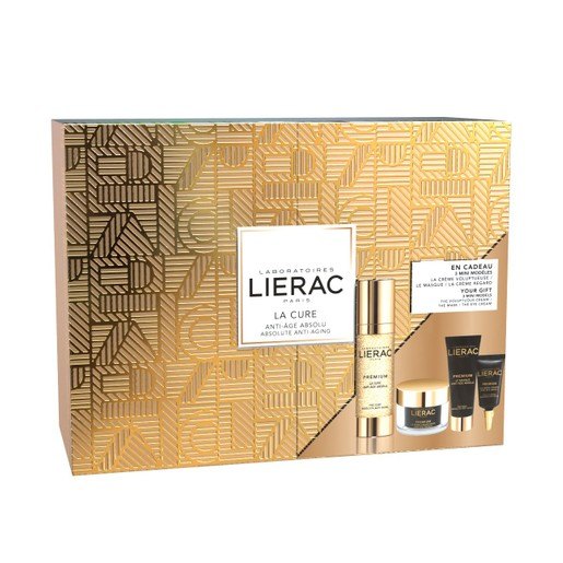 Lierac Gift Box Premium La Cure Anti-Age Absolu 30ml & Δώρο Premium La Creme Voluptueuse 15ml, La Masque 10ml, The Eye Cream 3ml
