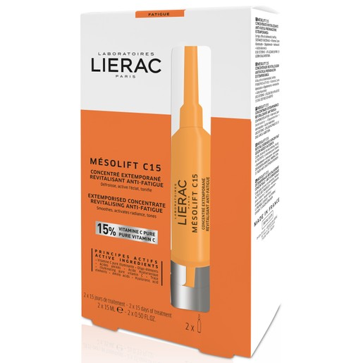 Lierac Mesolift C15 Συμπύκνωμα Κατά της Κουρασμένης Επιδερμίδας που Ενεργοποιείται με την Πρώτη Χρήση 2x15ml