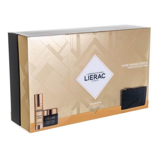 Lierac Promo Premium La Cure Anti-Age Absolu 30ml & Premium La Creme Voluptueuse 50ml & Δώρο Rue Des Fleurs Δερμάτινο Πορτοφόλι
