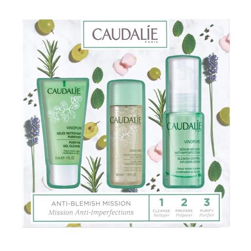 Caudalie Promo Vinopure Serum 30ml & Purifying Gel Cleanser 30ml & Clear Skin Purifying Toner 50ml