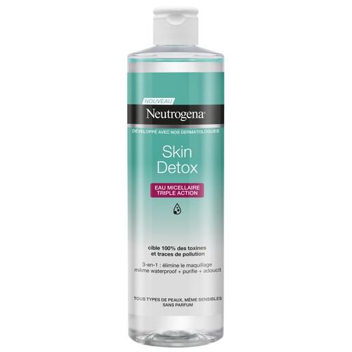 Neutrogena Skin Detox Eau Micellar Triple Action Water Απαλό Νερό Καθαρισμού Προσώπου 400ml