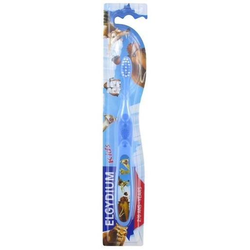 Elgydium Kids Ice Age Παιδική Οδοντόβουρτσα με Στρογγυλεμένες Ίνες για Απαλό Βούρτσισμα 2-6 Ετών