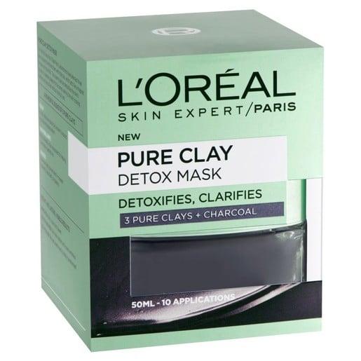 L\'oreal Paris Pure Clay Detox Mask Μάσκα Καθαρισμού και Λάμψης 50ml