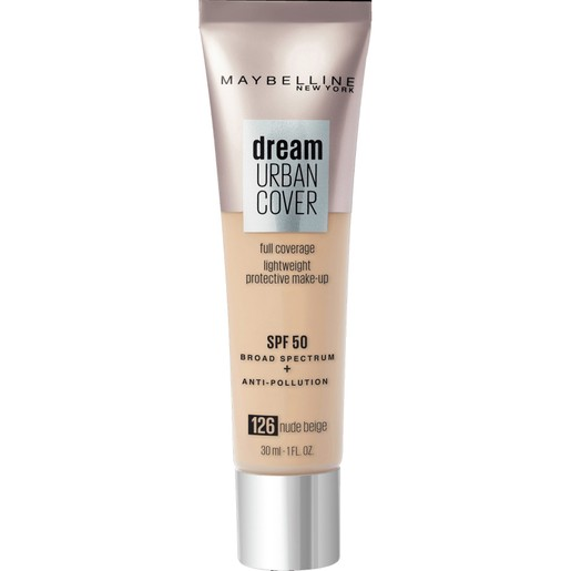 Maybelline Dream Urban Cover Make-Up Spf50, 126 Nude Beige 30ml