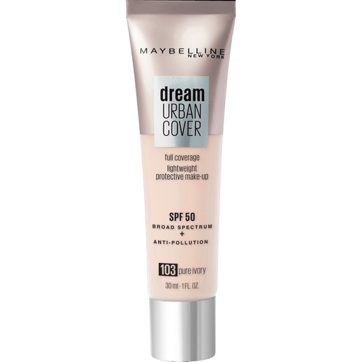 Maybelline Dream Urban Cover Make-Up Spf50, 103 Pure Ivory 30ml