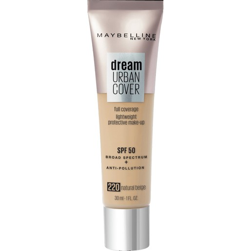 Maybelline Dream Urban Cover Make-Up Spf50, 220 Natural Beige 30ml