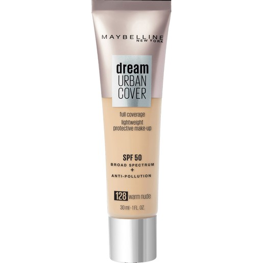 Maybelline Dream Urban Cover Make-Up Spf50, 128 Warm Nude 30ml