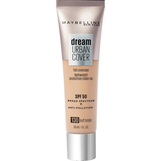 Maybelline Dream Urban Cover Make-Up Spf50, 130 Buff Beige 30ml