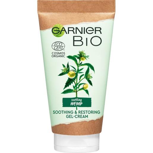 Garnier Bio Soothing Hemp & Restoring Gel-Cream Ενυδατική Κρέμα Προσώπου με Έλαιο Κάνναβης 50ml