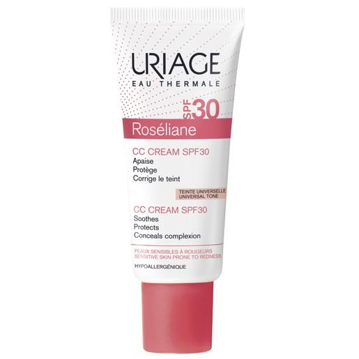 Uriage Eau Thermale Spf30 Roseliane CC Cream Ενυδατική Καταπραϋντική Αντηλιακή Κρέμα Κατά της Ερυθρότητας με Χρώμα 40ml