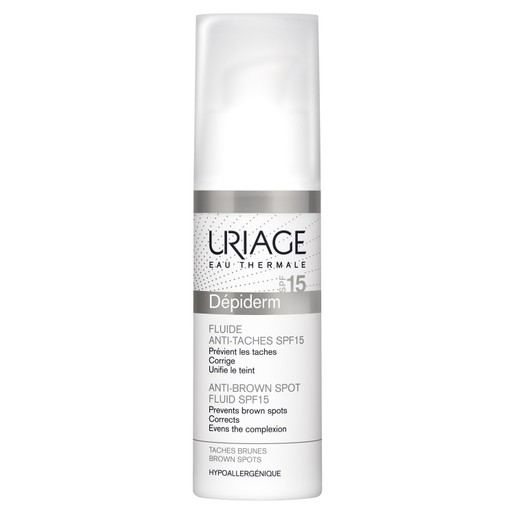 Uriage Eau Thermale Depiderm Anti Brown Spot Fluid Spf15 Διορθώνει τις Καφέ Κηλίδες 30ml