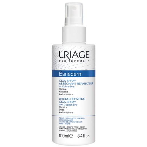 Uriage Eau Thermale Bariederm Drying Repairing Cica Spray Ιδανικό για τις Αποδυναμωμένες Περιοχές με Υγρασία 100ml