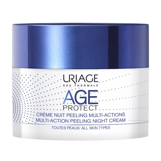 Uriage Eau Thermale Age Protect Multi-Action Peeling Night Cream Απολεπιστική Κρέμα Νυκτός Πολλαπλών Δράσεων 50ml