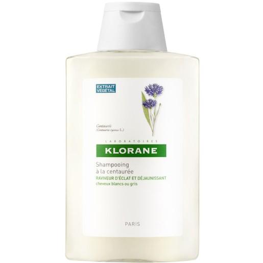 Klorane Shampoo Centauree Με Κενταυρίδα Σαμπουάν για Ασημένιες Ανταύγειες με Εκχύλισμα Κενταυρίδας 400ml