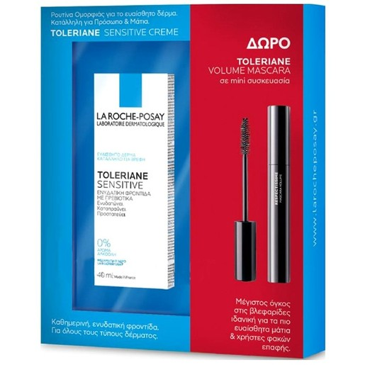 La Roche-Posay Toleriane Sensitive 40ml & Toleriane Mascara Volume Black 4.5ml