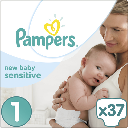 Pampers New Baby Sensitive Newborn No1 (2-5kg) 37 Πάνες