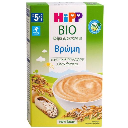 Hipp Bio Κρέμα Χωρίς Γάλα με Βρώμη, Μετά τον 5ο Μήνα 200g