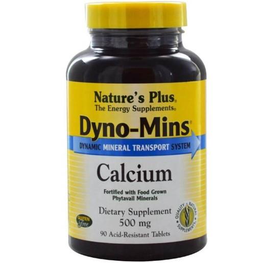 Nature\'s Plus Dyno-Mins Calcium 500mg Συμπλήρωμα Διατροφήςγια την Επίτευξη Ιδανικής Οστικής Πυκνότητας 90Tablets