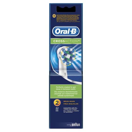 Oral-B Cross Action Ανταλλακτικές Κεφαλές 2 τεμάχια