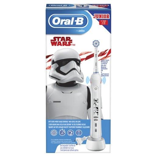 Oral-B Junior Star Wars Επαναφορτιζόμενη Ηλεκτρική Οδοντόβουρτσα με Αισθητήρα Πίεσης για Παιδιά από 6 Χρονών 1 Τεμάχιο