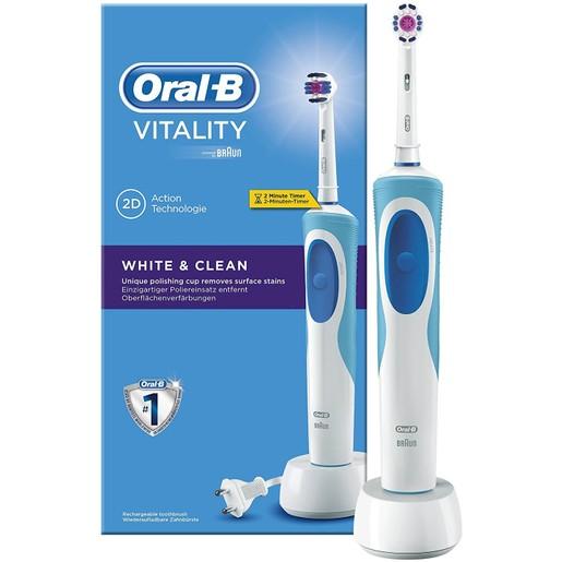 Oral-B Vitality White & Clean Επαναφορτιζόμενη Ηλεκτρική Οδοντόβουρτσα 1 τεμάχιο