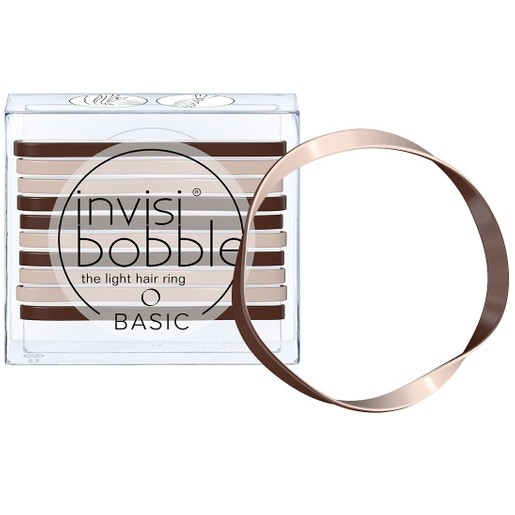 Invisibobble Basic Mocca & Cream Λαστιχάκι Μαλλιών Χρώμα Μόκα - Κρέμα, Συσκευασία 10 Τεμαχίων