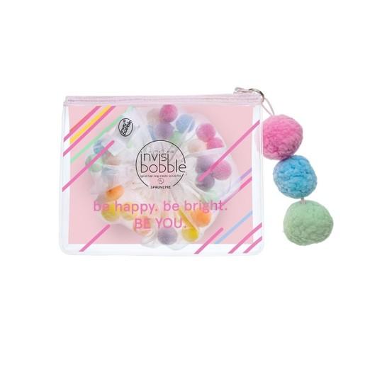 Invisibobble Sprunchie Haircloud Πολύχρωμο Λαστιχάκι Μαλλιών Μαζί με Mini Νεσεσέρ