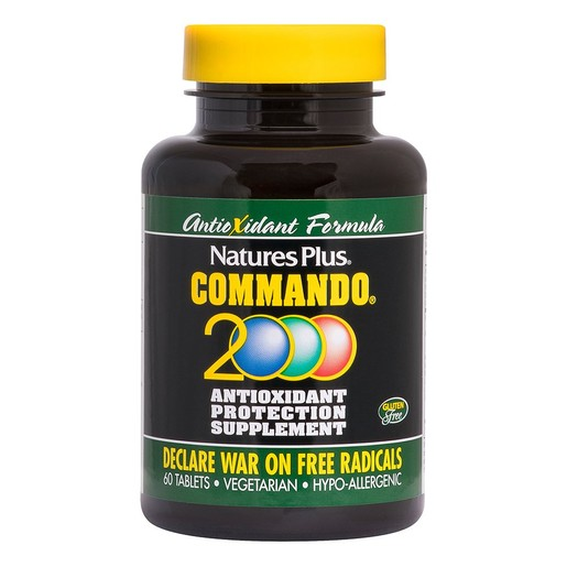 Nature\'s Plus Commando 2000 Συμπλήρωμα Διατροφής με Ισχυρή Αντιοξειδωτική  Προστασία 60tabs