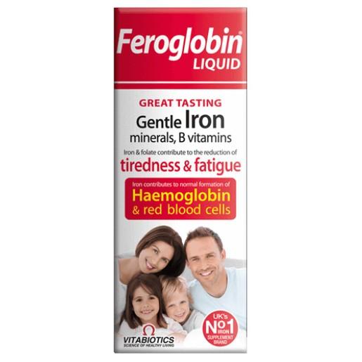 Vitabiotics Feroglobin Liquid Gentle Iron Συμπλήρωμα Διατροφής Υγρού Σιδήρου με Βιταμίνες και Μέταλλα 200ml