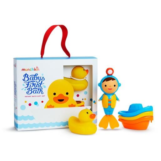 "Munchkin Baby\'s 1st Bath Gift Set Σετ Δώρου με  Βρεφικά Παιχνίδια Μπάνιου ""Το Πρώτο μου Μπάνιο"""