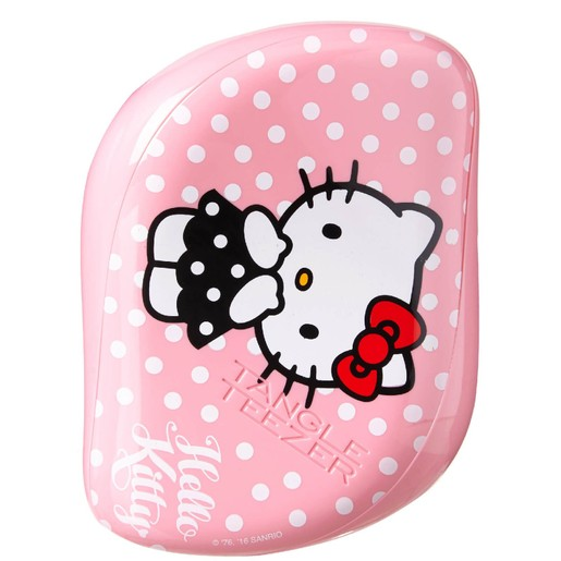 Tangle Teezer Compact Styler On The Go Hello Kitty-Pink Βούρτσα Μαλλιών 1 τεμάχιο