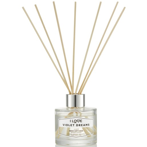 I love... Violet Dreams Reed Diffuser Αρωματικά Sticks 100ml
