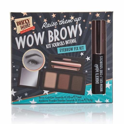 Dirty Works Wow Brow Eyebrow Fix Kit 3x3.9g & Eyebrow Gel 3ml