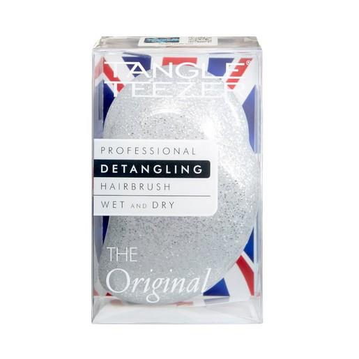 Tangle Teezer The Original Silver Glitter/White Ειδικά Σχεδιασμένη Βούρτσα για να Ξεμπλέκει με Ευκολία τα Μαλλιά 1 τεμάχιο