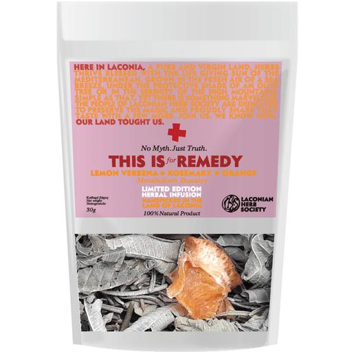 This is for Remedy Herbal Infusion Lemon Verbena & Rosemary & Orange Μείγμα Βοτάνων για Αφέψημα, Ωφέλιμο για το Μεταβολισμό 30gr