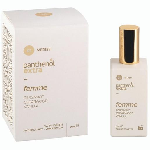 Medisei Panthenol Extra Eau de Toilette Femme Bergamot, Cedarwood, Vanilla Γυναικείο Άρωμα 50ml