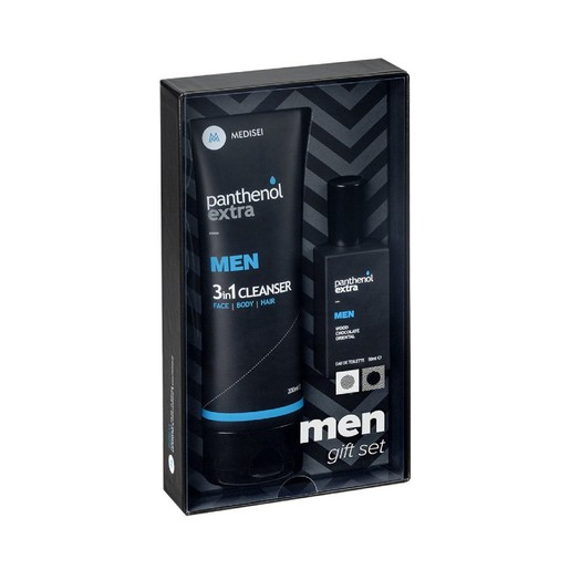 Medisei Gift Set Panthenol Extra Men 3 in 1 Cleanser 200ml & Eau De Toilette 50ml